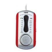 Naxa® NR-721 AM/FM Mini Pocket Radio With Built-in Speaker, Red