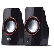QFX CS-61 2.0 2.5 W USB Speakers, Black