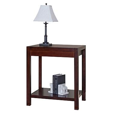 Martin Home Furnishings Wood/Veneer Corner Table, Maple, Each (CN55)