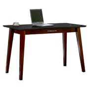 Kathy Ireland Home by Martin Infinity Wood Writing Desk, Onyx Black