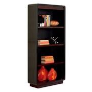 Kathy Ireland Home by Martin 60 Hardwood Solid & Veneer Bookcase, Onyx Black