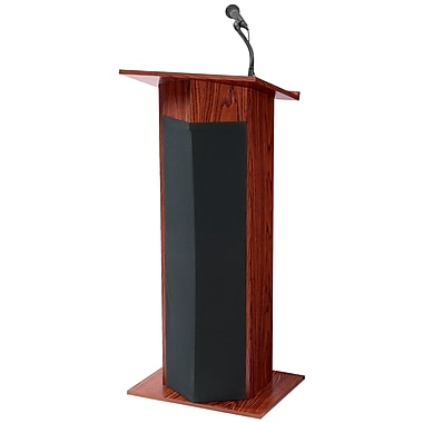 Oklahoma Sound® 46in.H x 22in.W x 17in.D MDF Power Plus Wireless Ready Sound Lecterns