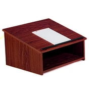 Oklahoma Sound® 13 3/4H x 23 3/4W x 19 7/8D MDF Table Top Lectern, Mahogany