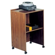"Oklahoma Sound® 33 3/4""H x 21 1/8""W x 17 1/2""D MDF AV Cart/Lectern Base, Medium Oak"