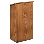 Oklahoma Sound® 46 1/2H x 23W x 16D MDF Full Floor Lectern, Medium Oak