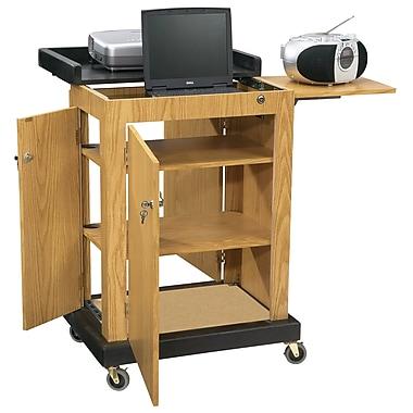 Oklahoma Sound® Smart Cart Audio Visual Lectern, Light Oak