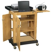 Oklahoma Sound® Smart Cart Audio Visual Lectern, Light Oak