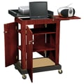 Oklahoma Sound® Smart Cart Audio Visual Lectern, Mahogany