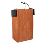 Oklahoma Sound® 46H x 24W x 21D MDF Vision Floor Lectern With Sound, Cherry