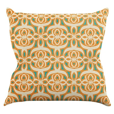 KESS InHouse Swan Lake Throw Pillow; 18'' H x 18'' W