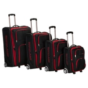 Rockland Polo Equipment 4 Piece Upright Luggage Set; Black