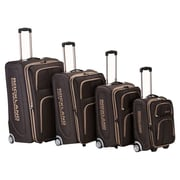 Rockland Polo Equipment 4 Piece Upright Luggage Set; Brown