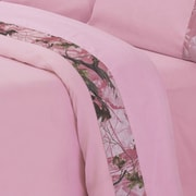 HiEnd Accents Pink Oak Camo Sheet Set; Queen