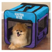 Guardian Gear Collapsible Pet Crate; X-small - Purple / Turq