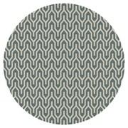 Jill Rosenwald Rugs Fallon Hand-Woven Khaki Green/White Area Rug; Round 8'