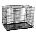 Aosom 2 Door Folding Pet Crate; Medium (42'' H x 28'' W x 31'' L)