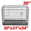 Aosom 2 Door Folding Pet Crate; Extra Small (30'' H x 21'' W x 24'' L)