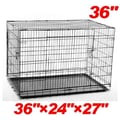 Aosom 2 Door Folding Pet Crate; Small (36'' H x 24'' W x 27'' L)