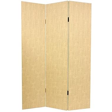 Oriental Furniture 70.88'' x 47.25'' 3 Panel Room Divider; Snake Camel