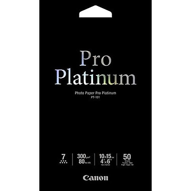 Canon – Papier photo Pro Platinum, 4 x 6 po, 50/paquet