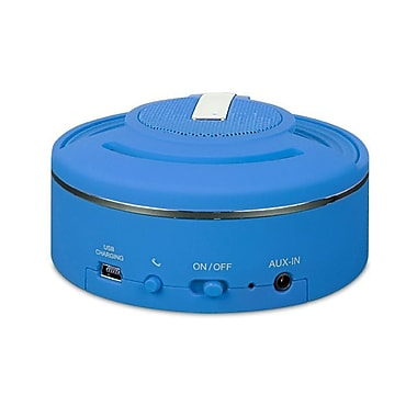 i.Sound Hang On Rechargeable Bluetooth Speaker and Speakerphone, Blue