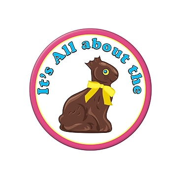 Chocolate Bunny Buttons, 3-1/2