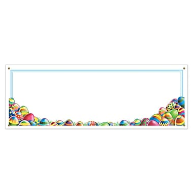 Easter Egg Hunt Sign Banners, 5' x 21