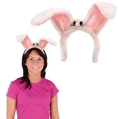 Serre-tête oreilles de lapin en peluche, 2/paquet