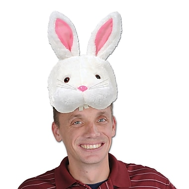 Plush Bunny Head Hats, 2/Pack