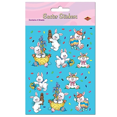 Easter Bunny Stickers, 4-3/4