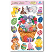 "Beistle 12"" x 17"" Easter Basket & Friends Clings, 35/Pack"