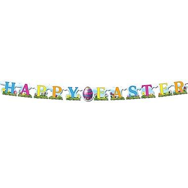Banderoles « Happy Easter », 4 1/2 po x 5 pi, paquet de 5