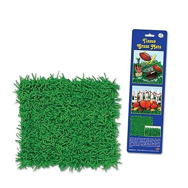 Tapis d'herbe en papier, 15 x 30 po, paquet de 6