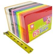 """Fibre Craft CH-1593259E Smart Foam Multicolor Adhesive Foam Sheet, 5.9"""" x 4.43"""", 65/Pack"""