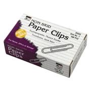 Charles Leonard Non Skid #1 Gem Paper Clips, 100/Box