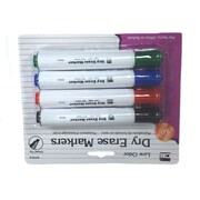 Charles Leonard Barrel Style Dry Erase Markers, 4/Pack