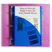 C-Line® Mini 5-Tab Poly Index Divider With Slant Pockets, Assorted