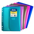 C-Line® Mini Side Loading Binder Pocket, Assorted