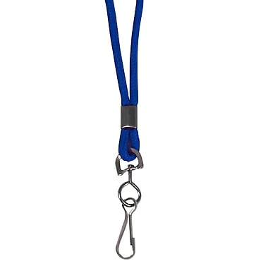 C-Line® Standard Lanyard With Swivel Hook, Blue, 24/Pack