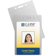 C-Line® Vertical ID Badge Holders, 12/Pack