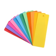"Hygloss 2"" x 6"" Blank Bookmarks, Assorted, 100/Pack"