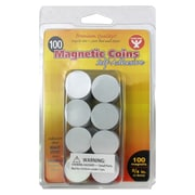 Hygloss™ Self Adhesive Magnetic Coins, 100/Pack