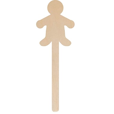 Hygloss HYG89201 Brown Popstix Shape People Stick, 25/Pack