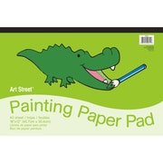 "Pacon® Art Street® Painting Paper Pad, 18"" x 12"", White, 40 Sheets"