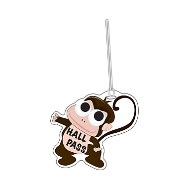 Ashley 4in. Soft Rubber Monkey Hall Pass With Wrist Strap