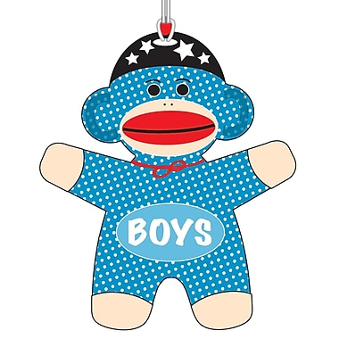 Ashley 3 3/4in. Flexible Rubber Sock Monkey Boys Hall Pass With Strap