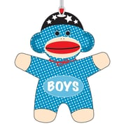 "Ashley 3 3/4"" Flexible Rubber Sock Monkey Boys Hall Pass With Strap"