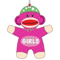 Ashley 3 3/4in. Flexible Rubber Sock Monkey Girls Hall Pass With Strap