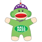 "Ashley 3 3/4"" Flexible Rubber Sock Monkey Hall Pass With Strap"