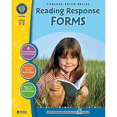 Classroom Complete Press Reading Response Forms Book, Grade 1 -2